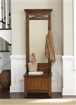 Hearthstone Hall Tree in Rustic Oak Finish by Liberty Furniture - 382-HT