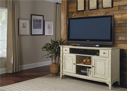 Harbor Ridge 60 Inch TV Entertainment in Distressed Rustic Ivory Finish by Liberty Furniture - 385-TV60