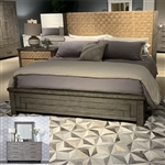 Modern Farmhouse Panel Woven Bed in Distressed Dusty Charcoal Finish by Liberty Furniture - 406-BR-OQPB