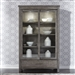 Modern Farmhouse Display Cabinet in Dusty Charcoal Finish by Liberty Furniture - 406-CH4877
