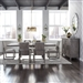 Modern Farmhouse Trestle Table 7 Piece Dining Set in Dusty Charcoal Finish by Liberty Furniture - 406-DR-O7TRS