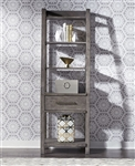 Modern Farmhouse Leaning Pier Bunching Bookcase in Dusty Charcoal Finish by Liberty Furniture - 406-EP00
