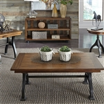 Arlington House Rectangular Cocktail Table in Cobblestone Brown Finish by Liberty Furniture - LIB-411-OT1010