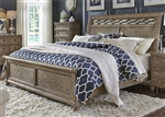 Simply Elegant Sleigh Bed in Heathered Taupe Finish by Liberty Furniture - 412-BR-QSL