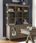 Simply Elegant Credenza with Hutch in Heathered Taupe Finish by Liberty Furniture - 412-HO131