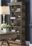 Simply Elegant Bookcase in Heathered Taupe Finish by Liberty Furniture - 412-HO201