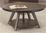 Aspen Skies Motion Cocktail Table in Weathered Brown Finish with Gray Hang Up by Liberty Furniture - 416-OT1011