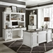 Allyson Park 3 Piece Home Office Set in Wirebrushed White Finish by Liberty Furniture - 417-HOJ-CDS