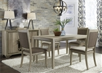 Sun Valley 60 Inch Rectangular Leg Table 5 Piece Dining Set in Sandstone Finish by Liberty Furniture - 439-DR-05RLS