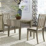 Sun Valley Drop Leaf Table 3 Piece Dining Set in Sandstone Finish by Liberty Furniture - 439-DR-3DLS