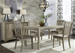 Sun Valley 60 Inch Rectangular Leg Table 5 Piece Dining Set in Sandstone Finish by Liberty Furniture - 439-DR-5LTS