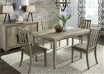 Sun Valley 72 Inch Rectangular Leg Table 5 Piece Dining Set in Sandstone Finish by Liberty Furniture - 439-DR-5RLS