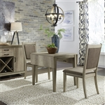 Sun Valley Drop Leaf Table 3 Piece Dining Set in Sandstone Finish by Liberty Furniture - 439-DR-O3DLS