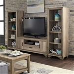 Sun Valley 3 Piece Entertainment Center in Sandstone Finish by Liberty Furniture - 439-ENTW-ECP