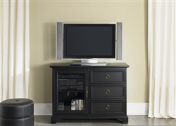 Beacon 44-Inch TV Stand in Black Finish by Liberty Furniture - 453-TV44