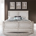 Abbey Road Sleigh Bed in Porcelain White Finish with Churchill Brown Tops by Liberty Furniture - 455W-BR-QSL