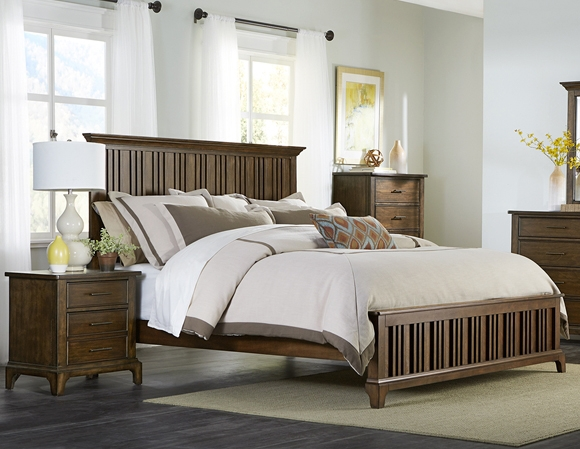 Mill Creek Panel Bed In Rustic Cherry Finish By Liberty Furniture 458 Br Qpb