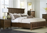 Mill Creek Storage Bed in Rustic Cherry Finish by Liberty Furniture - 458-BR-QSB