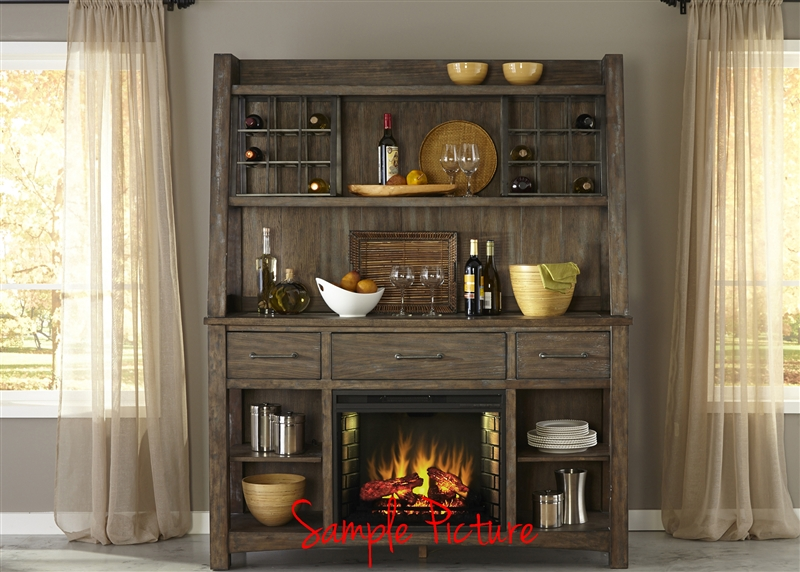 stone brook buffet and hutch in rustic saddle finish by liberty rh homecinemacenter com Rustic Dining Room Buffets rustic buffet and hutch set
