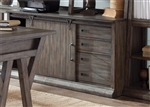 Stone Brook Jr Executive Computer Credenza in Rustic Saddle Finish by Liberty Furniture - LIB-466-HO120