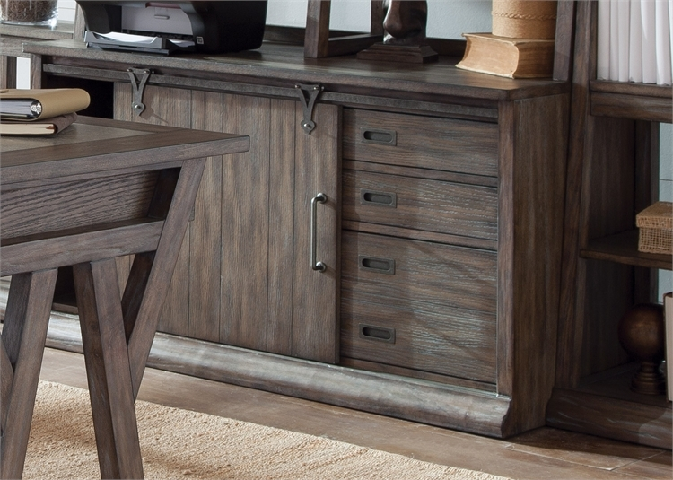 Stone Brook Jr Executive 5 Piece Home Office Set In Rustic