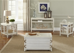 Dockside Storage Trunk / Cocktail Table in White Finish by Liberty Furniture - 469-OT1012