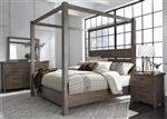 Sonoma Road Canopy Bed in Weather Beaten Bark Finish by Liberty Furniture - 473-BR-QCB