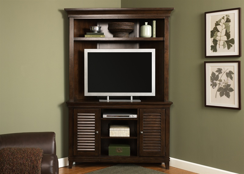 low priced 7540f 99782 Lakewood 45-Inch TV Corner Entertainment Center in Amaretto Finish by  Liberty Furniture - 481-EC52