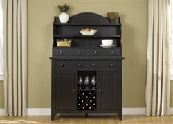 Hearthstone Server & Hutch in Black Finish by Liberty Furniture - 482-SR5074H