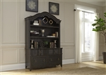Chesapeake Credenza and Hutch in Wire Brushed Antique Black Finish by Liberty Furniture - 493-HO-CHS