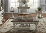 Morgan Creek Occasional Cocktail Table in Antique White Finish with Wire Brushed Tobacco Accents by Liberty Furniture - 498-OT