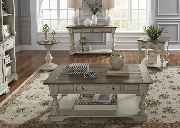 Tremendous Morgan Creek Occasional Cocktail Table In Antique White Finish With Wire Brushed Tobacco Accents By Liberty Furniture 498 Ot Alphanode Cool Chair Designs And Ideas Alphanodeonline