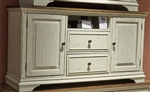 Morgan Creek 56 Inch TV Console in Antique White Finish with Wire Brushed Tobacco Accents by Liberty Furniture - 498-TV56