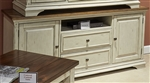 Morgan Creek 66 Inch TV Console in Antique White Finish with Wire Brushed Tobacco Accents by Liberty Furniture - 498-TV66