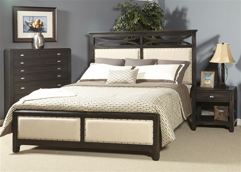 Town & Country 6 Piece Bedroom Set in Black Stone Finish by Liberty  Furniture - LIB-503-BR14