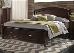 Avalon Panel Storage Bed in Dark Truffle Finish by Liberty Furniture - 505-BR-QPBS