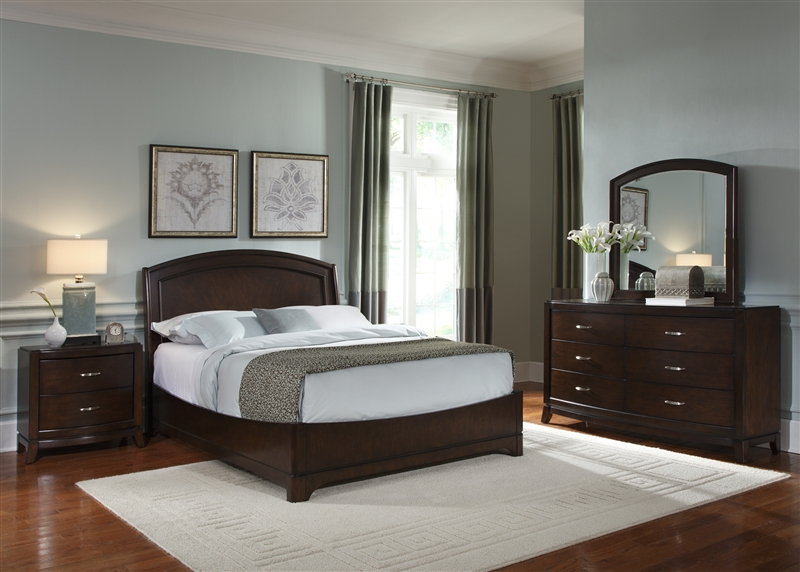 Avalon Platform Bed 6 Piece Bedroom Set In Dark Truffle Finish By Liberty  Furniture   505 BR23H