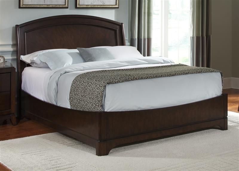 Avalon Platform Bed 6 Piece Bedroom Set in Dark Truffle Finish by ...