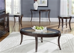 Avalon Occasional Tables in Dark Truffle Finish by Liberty Furniture - LIB-505-OT