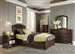 Avalon Youth Upholstered Bed Bedroom Set in Dark Truffle Finish by Liberty Furniture - 505-YBR-TLB