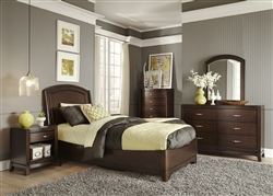 Avalon Youth Panel Bed Bedroom Set in Dark Truffle Finish by Liberty Furniture - 505-YBR-TPL