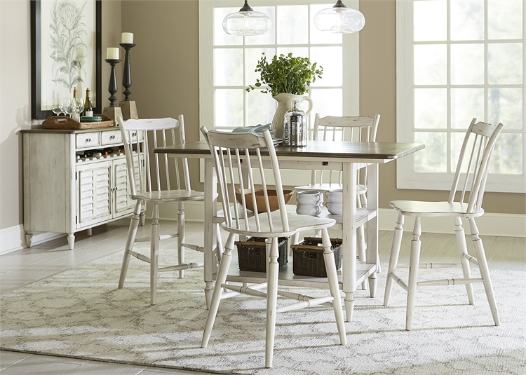 Oak Hill Gathering Counter Height Table Piece Dining Set In Two - Counter height table for two