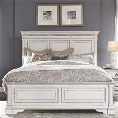 Abbey Park Panel Bed in Antique White Finish by Liberty Furniture - 520-BR-QPB