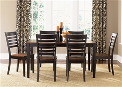 Cafe Collections Rectangular Leg Table 5 Piece Dining Set in Black & Cherry Finish by Liberty Furniture - 53-T3660