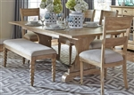 Harbor View Trestle Table 6 Piece Dining Set in Sand Finish by Liberty Furniture - 531-DR-6TRS
