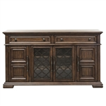 Lucca Buffet and Hutch in Cordovan Brown Finish by Liberty Furniture - 535-DR-HB