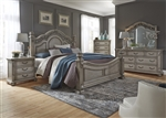Messina Estates Poster Bed 6 Piece Bedroom Set in Dove Gray Finish by Liberty Furniture - 537-BR