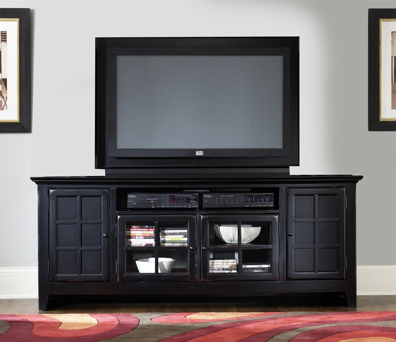 New Generation 75 Inch Tv Stand In Rubbed Black Finish By