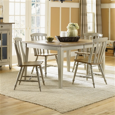 Al Fresco 5 Piece Dining Set in Driftwood & Taupe Finish by Liberty Furniture - 541-CD-5RLS