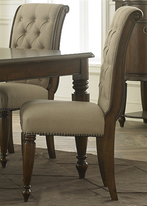 Cotswold Rectangular Leg Table 7 Piece Dining Set In Cinnamon Finish By Liberty Furniture 545 Dr 7rls